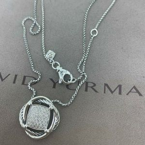 David Yurman Infinity Pendant with Diamonds